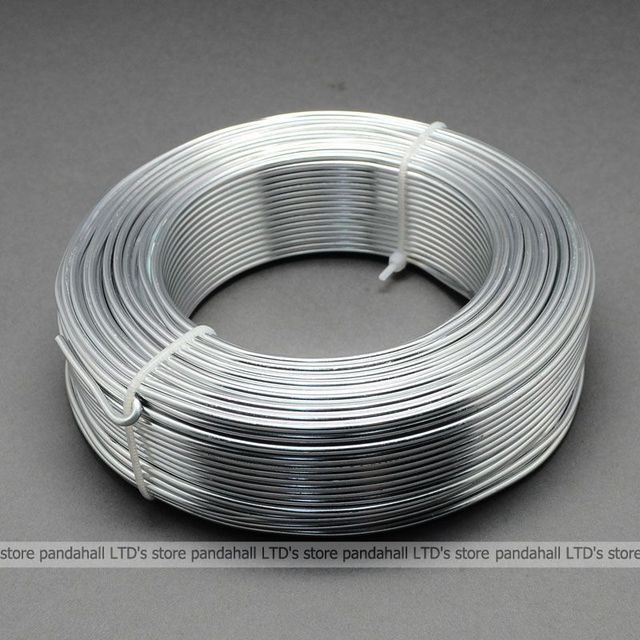 Алюминиевый Бисероплетение Провода, WhiteSmoke, 2 мм в диаметре, около 50 м/рулон