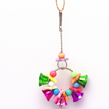 1pcs Parrot Bird Toy Acrylic Hanging Bell Cage Toys for Parrots Cockatiel Parakeet Pet Climb Cages Chewing Accessories