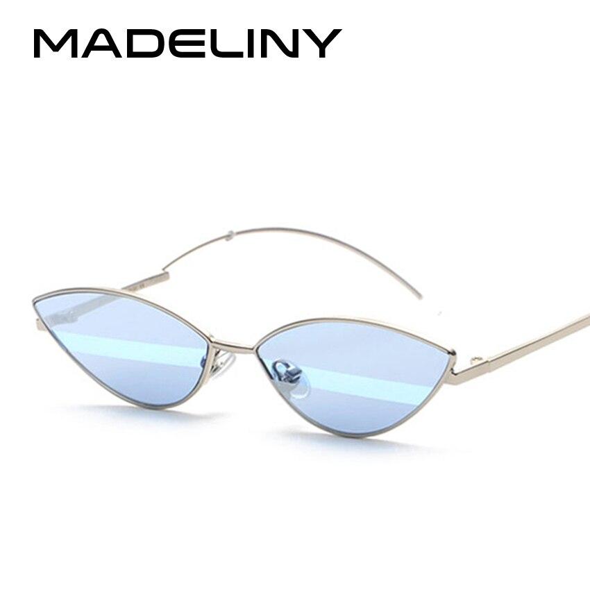 68c1161460985 MADELINY 2018 Sexy Mulheres Gato Olho Óculos De Sol Novo Revestimento  Personalidade Espelho de Metal Estilo Verão Óculos de Sol Marca Óculos  MA171 em Óculos ...