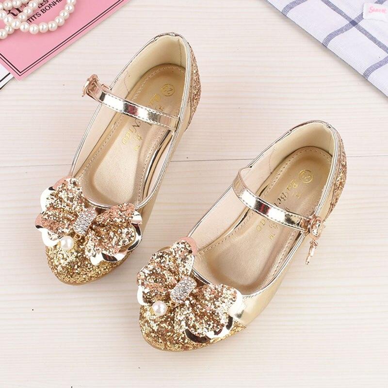 Niña princesa zapatos de cuero niños niñas bailando zapatos boda y - Zapatos de niños - foto 3