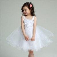 Formal Flower Girl Dresses Tutu White Eleghant Princess Vestidos 2019 Kids Clothes For Girls Of 8 9 10 11 12 Years AKF164060