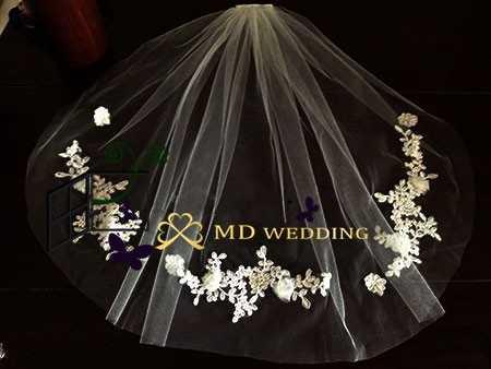 ホット販売リアルフォトホワイト/アイボリーショートウェディングベールくしマンティージャブライダルベール結婚式アクセサリー Veu デ noiva MD3049