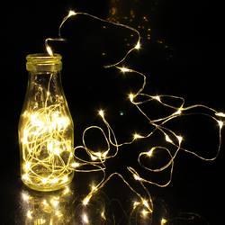 1/2/5/10 м 10-100 светодио дный s новогодние гирлянды Медный провод светодио дный строки лампы гирлянды для внутреннего Новый год Рождество