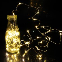 1/2/5/10M 10-100 LEDs Christmas Garland Copper Wire LED String Lamp Fairy lights For Indoor New Year Xmas Wedding Decoration(China)