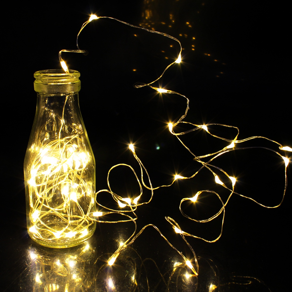 10-100 LED Fairy String Lights Battery Operated Party Bedroom Garden Decor Sd