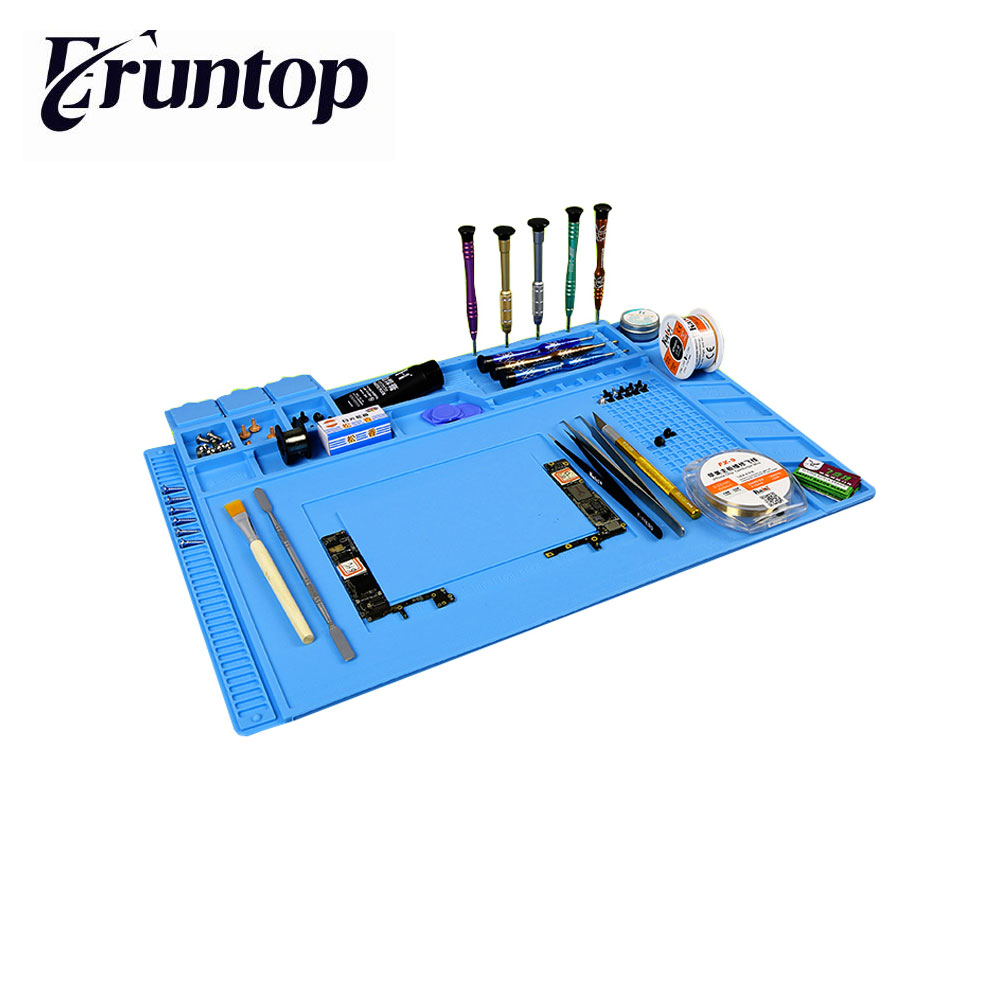 Heat-resistant Soldering Mat Silicone Heat Gun BGA Soldering Station Insulation Pad Repair Tools Maintenance Platform Desk Mat anti static electronic maintenance platform table pad esd heat insulation silicone mat for phone bga soldering repair tools