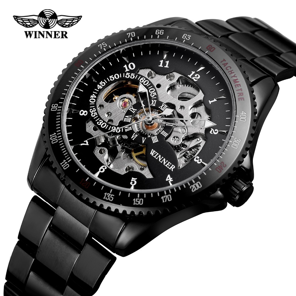 FORSINING Mens Luxury Brand Automatic Self-wind  Skeleton Chain Anglog Dial Watch with Stainless Steel Bracelet WRG8031M4FORSINING Mens Luxury Brand Automatic Self-wind  Skeleton Chain Anglog Dial Watch with Stainless Steel Bracelet WRG8031M4