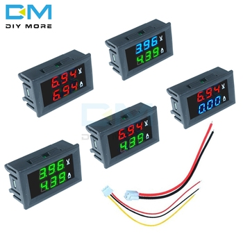 0,28 pulgadas Mini Digital voltímetro amperímetro DC 100V 10A Panel Amp voltios medidor de corriente de 0,28 pulgadas de doble LED pantalla