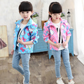 Girls Jacket Cartoon Baby Girls Jackets Outerwear Toddler Infant Kitty Overcoat Fashion Jackets for Girls 2016 New Autumn
