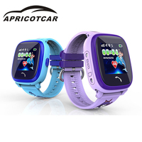 APRICOTCAR Children's Smart Positioning Tracker English Russian Version of GPS Touch Phone SOS Security Call Anti loss Monitor