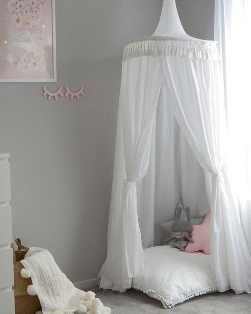 Ordinaire New 240cm Bed Canopy Kids Home Bed Curtain Round Crib Netting Baby Tent  Cotton Hung Dome Baby Bed Mosquito Net Photography Props