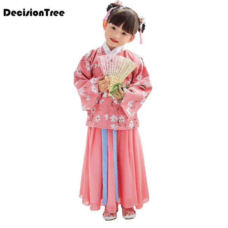 2019 nouveau costume chinois ancien filles chine hanfu robe cosplay princesse enfants hanfu robe chinois vêtements tang dynastie