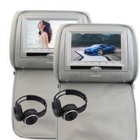 2 חינם IR אוזניות כרית מכונית כפולה מובנה IR משדר FM מסכי צגים dual נגן dvd 7 inch תאום זוג של משענות ראש