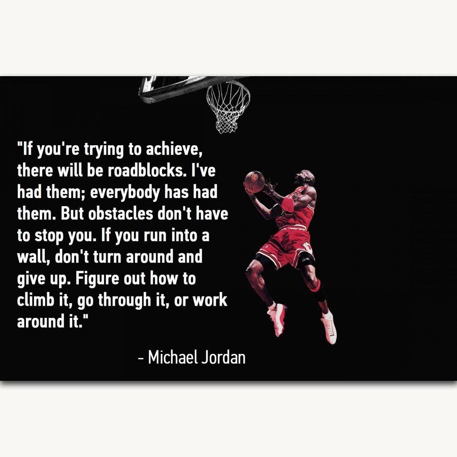 Michael Jordan Motivational Quotes About Life: FX898 Michael Jordan Basketball Star Motivational Life
