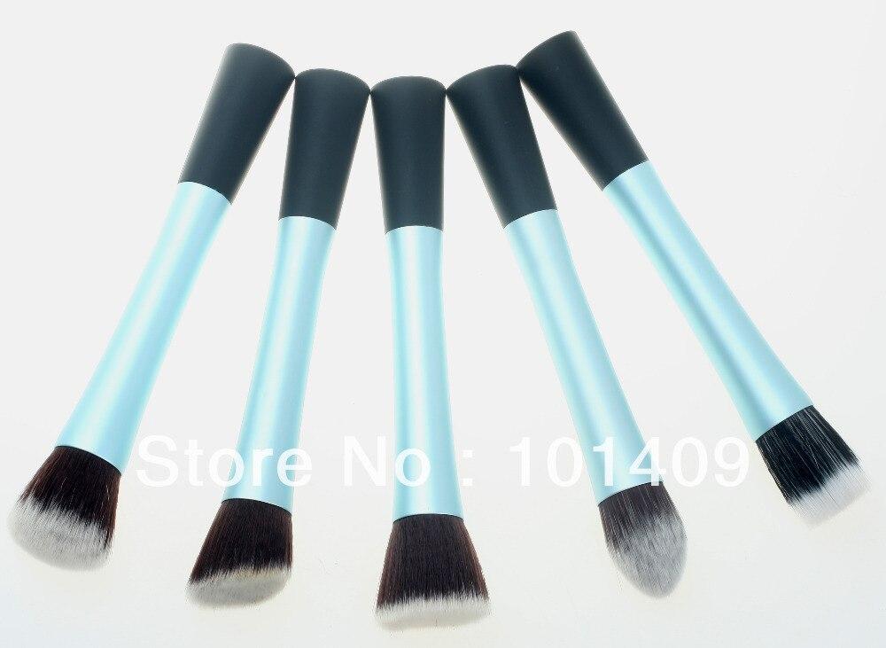 ISMINE Professional 5 Pcs Makeup Brush Set Sky Blue Purple Powder Blush Make up Brush Cosmetic Stipple Foundation Tool blue sky чаша северный олень