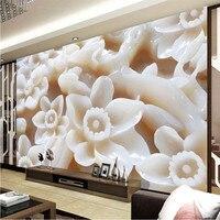 Beibehang Grand fond d'écran personnalisé plum 3d relief romantique chambre canapé style Chinois moderne peinture fond mur papier peint