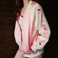 2016 Otoño Moda Mujer Chaquetas Mujer Harajuku Costura Básica Amantes Cazadora Bomber Jacket Coat Cardigan JA8022