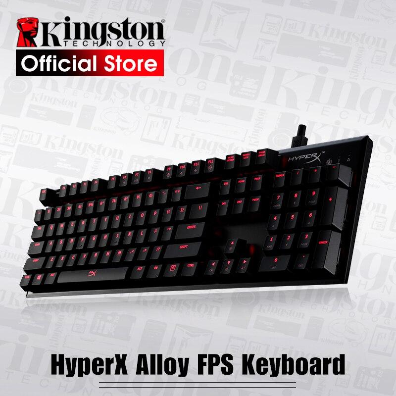 Kingston HyperX Alloy FPS Mechanical Gaming Keyboard CHERRY MX mechanical keys original kingston hyperx alloy fps mechanical keyboard gaming keyboard cherry mx mechanical keys teclado mecanico