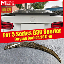 G30 Spoiler Tail Wing Real Carbon fiber Trunk For BMW 5 series 520i 530i 535i 540i 540iXD M4 style rear spoiler 2017-in