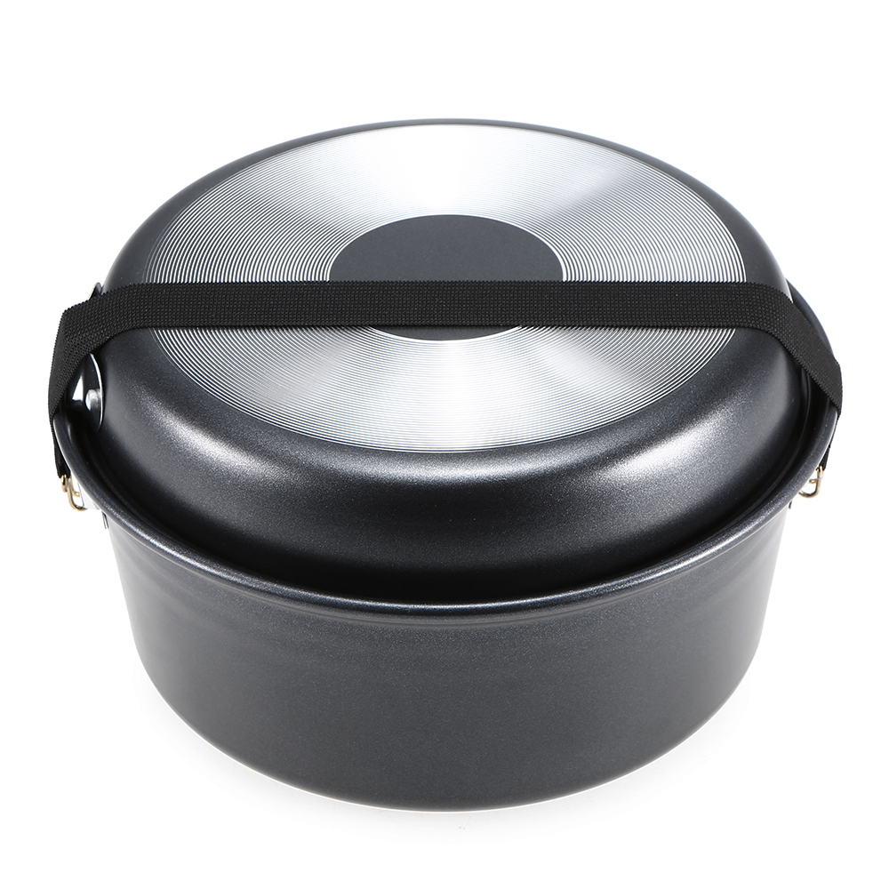 Image 3 - Outdoor Camping Pot Set Non stick Camping Cookware 2 3 Person Cook Set Nonstick Pot Pans for Backpacking Hiking Picnic-in Outdoor Tablewares from Sports & Entertainment