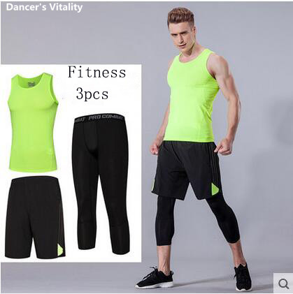 Running Men Compression Mens Sport Suits Running sets Clothes Sports Joggers Training Gym Fitness Tracksuits Running Set 3pcs