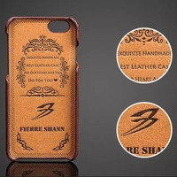 Noble Men Embossed Brown Amber Vein Mobile Phone Cases For Samsung S8 IPhone 6 6s Plus