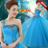 2019 Custom Made Debutante Dress Red Organza One Shoudler Flower Beading Pleat Ball Gown Quinceanera Dress Quinceanera Gowns