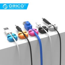 ORICO Cable Winder Wire Organizer Desktop Clips Cord Management Headphone Cord Holder For iPhone Charging Data Line стоимость