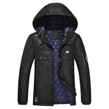 4XL-9XL Men Camouflage Cotton Thick Hooded Jacket Winter Autumn Male Thicken Padded Warm Parka Outwear Varsity Long Coat CF05
