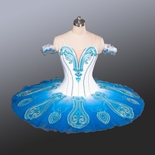 e63da58bde8a0 2016 New Blue Bird Tutu Skirts Adult Classical Pancake Professional Ballet  Tutus Dance Stage Costumes For