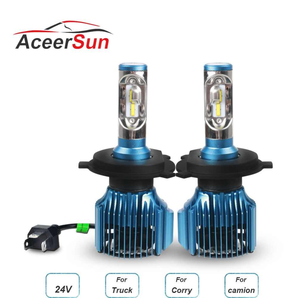 Aceersun H4 H7 LED H11 H1 ZES Chip 9005/HB3 9006/HB4 9012 H3 12000LM LED Car Headlight Bulbs Fog Lights White headlight 12V 24V
