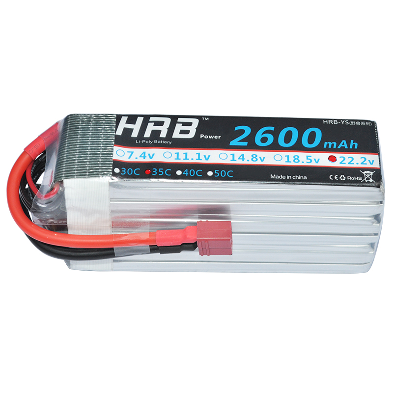 HRB RC Lipo 6s Battery 22 2V 2600mAh 35C 70C for RC Models Car Quadcopter Helicopter
