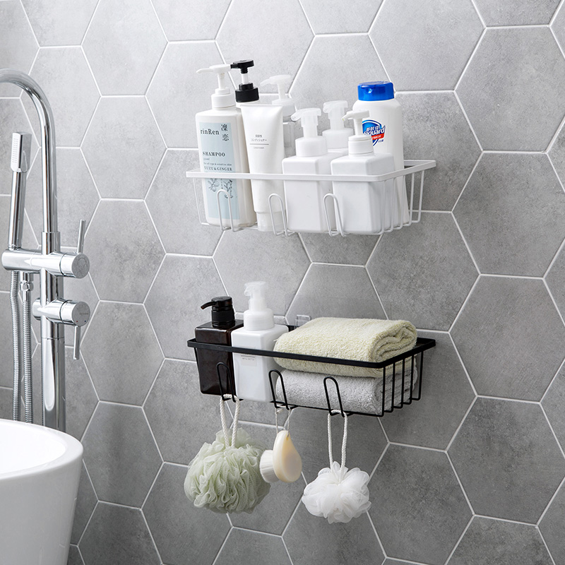 Cheap Sale A1 Wei-free Perforated Waterproof Toilet Absorbent Washbasin Storage Rack Raw Shelf Wall Bathroom Wall Lo5151146 Bathroom Hardware