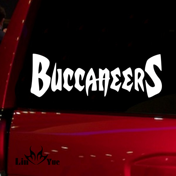 Nfl buccaneers auto window audi jdm car accessories die cut sticker decal for car truck suv