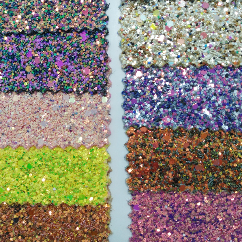 91x134cm Synthetic Leather Vinyl Fabric Chunky Glitter Leather Fabric for Bows DIY accessories P2565