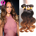 8A Brazilian Virgin Hair Body Wave Ombre Brazilian Human Hair 3 Bundles Honey Blonde Brazilian Ombre Hair Bundles Ombre Weave