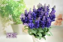 10 Heads Bouquet Wedding Home Party Decoration Artificial Lavender Silk Flower