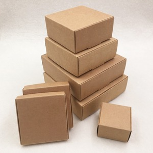 24pcs/lot 7 sizes Small Kraft cardboard packing gift box handmade soap candy For Wedding Decorations Event Party Supplies(China)