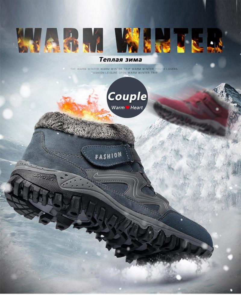 HTB1i1RhaK6sK1RjSsrbq6xbDXXao - Brand Men Snow Boots Plus Size 45 New Men Boots with Fur Unisex Winter Snow Botas Warm Plush Shoes High Top Boots Autumn