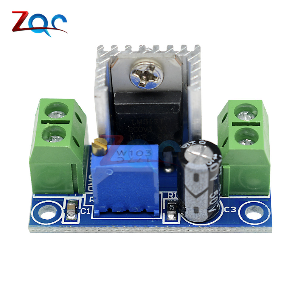 Lm317 Adjustable Voltage Linear Regulator Power Supply Dc An Breadboard By 1x 42 40v To 12 37v Step Down Buck Converter Board Module