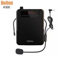 Rotlon K300 Wireless MIC Portable Voice Amplier Megaphone Booster Microphone Loudspeaker Mini Speaker FM Radio Teacher