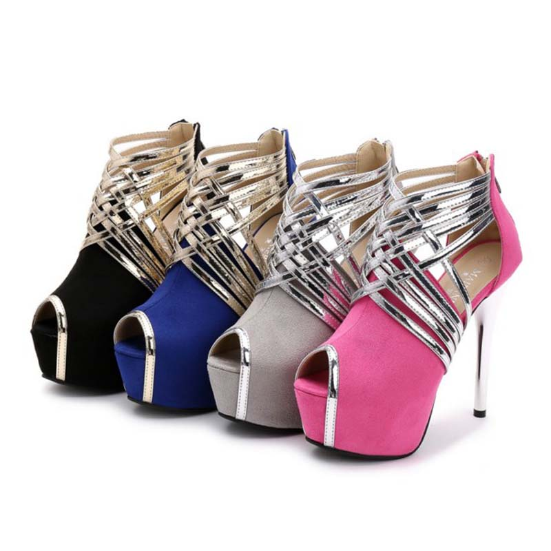 Summer Cross-Strap Women Gladiator Sexy Super High heels Fashion Open Toe Platform Pumps Woman Wedding Party Shoes Size 35-43 44 big size 32 43 fashion party shoes woman sexy high heels platform summer pumps ankle strap sandals women shoes