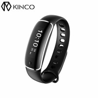 KINCO Bluetooth Waterproof Heart Rate Blood Pressure Detection Exercise Sports Time Smart Bracelet Wristband For IOS