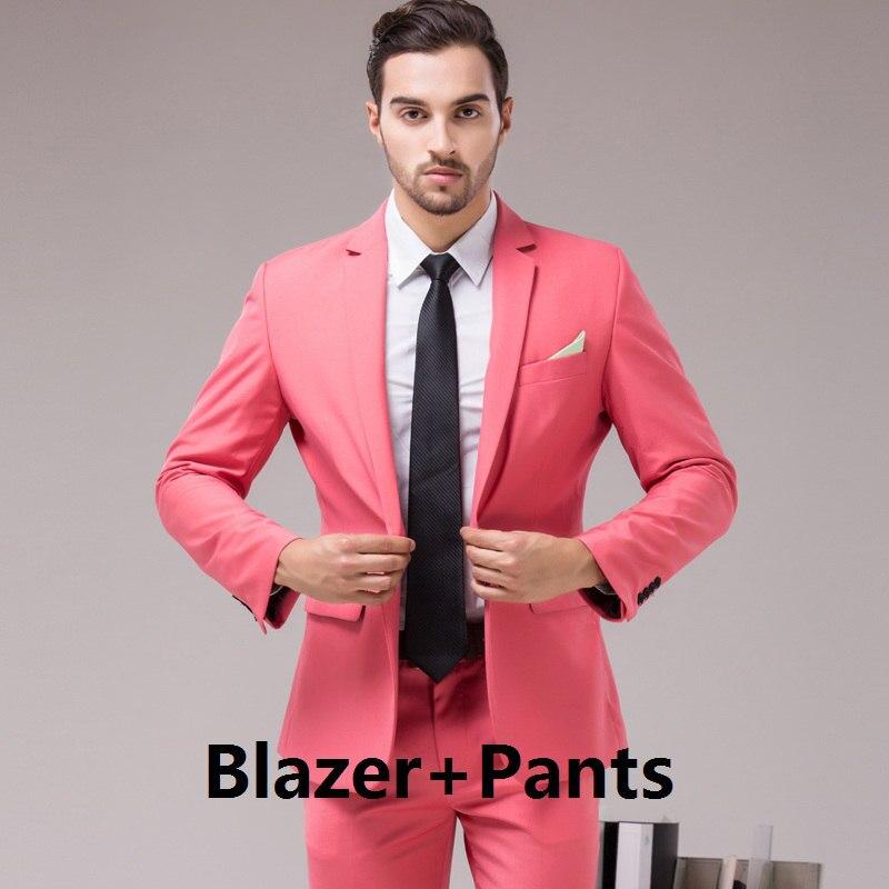 Casual Borgoña rojo hombres traje de boda novio 3 unidades traje ...
