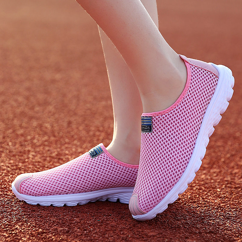 PINSV Breathable Running Shoes Women Sneakers White Sports Krasovki Women Running Shoes For Women Pink Running Sneaker Shoes