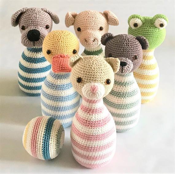 Crochet Toys  Amigurumi Animal Rattle Model Number 0966