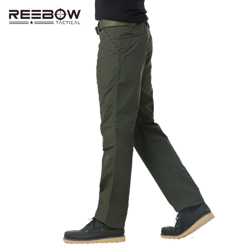 Men Summer Tactical Cargo Pants Scratch Resistant Lightweight Multi-pockets Autumn Trousers Military SWAT Police pockets design straight leg camouflage cargo pants