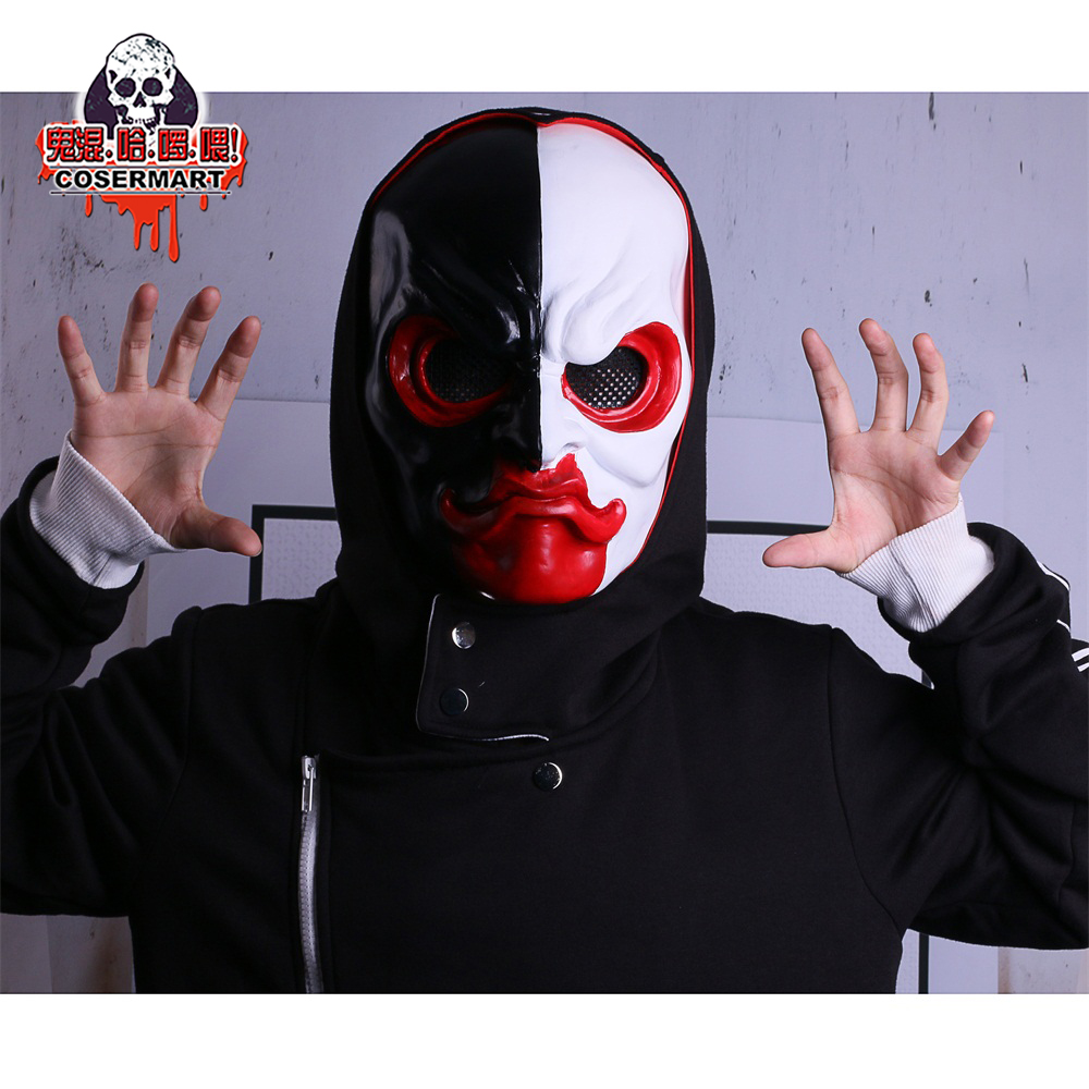 PAYDAY 2 Mask Scar Scarface Masks Game Payday 2 mask Cosplay Resin Halloween Party Prop