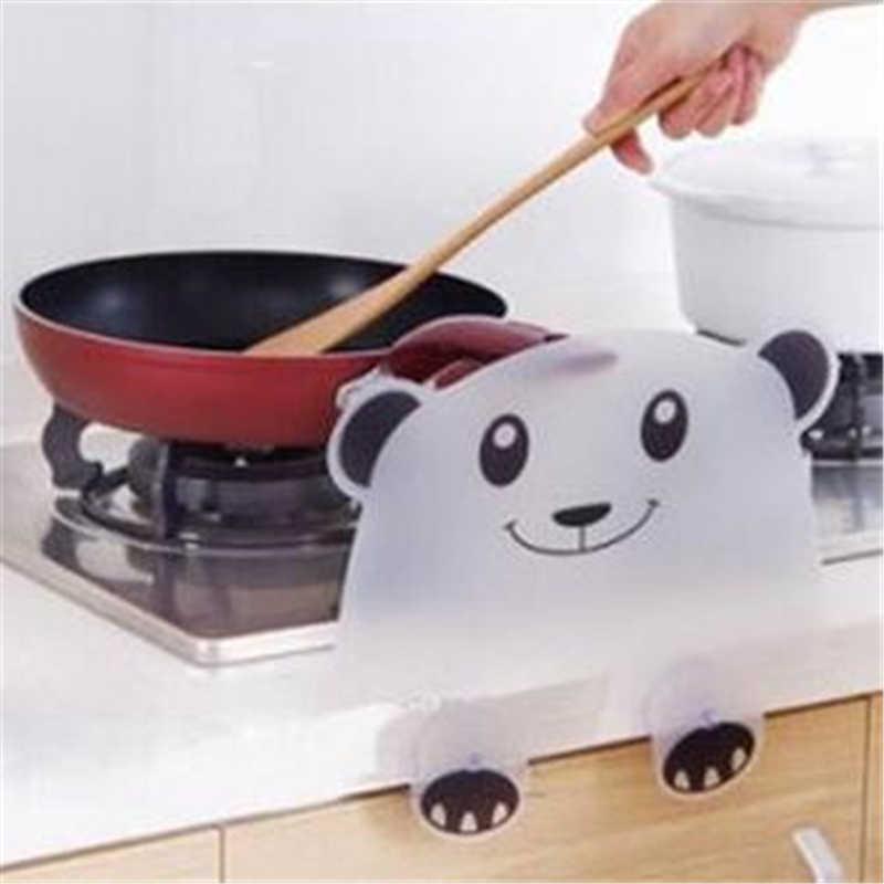 Śliczne Panda kształt wody Splash straży przegroda pokładzie ssania kubek do mycia umywalka umywalka półki organizator gadżety kuchenne wody płyta przegrody