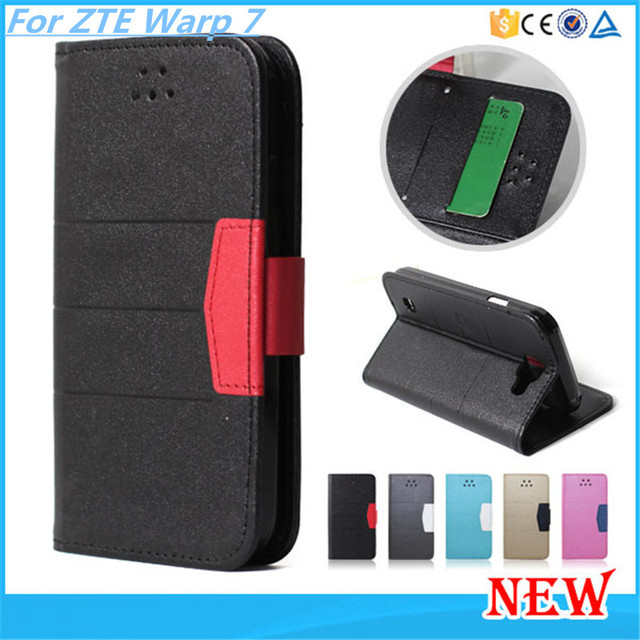 Wallet Leather Phone Bag Cover Case With Card Holder Style Stand Case For ZTE Warp 7 N9519 Free DHL